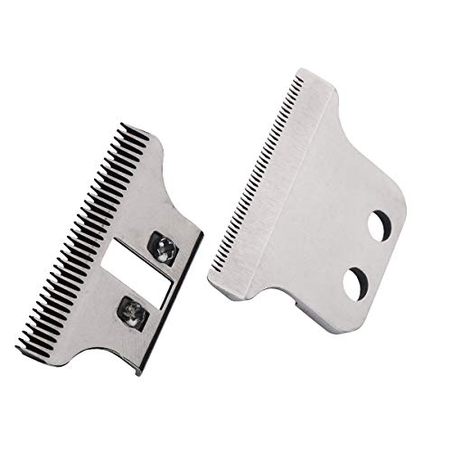 (Professional Trimmer T-Wide Adjustable Replacement Clipper Blades Set#2215-#1062-60,Designed for Specific Wahl Clippers,5 Star Series and Sterling Trimmers,Includes Screws and Instructions)