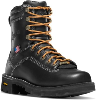 17323 Danner Women's Quarry 7IN BLK Work Boots - Black - 8.0 - M by Danner