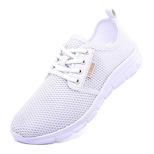 Nero Punta tonda Black da Tulle Scarpe Tacco Sneakers Bianco donna Rosa Summer basso ZHZNVX Comfort Cq7zw