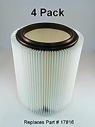 Craftsman & Ridgid Replacement Filter 4 pack by Kopach