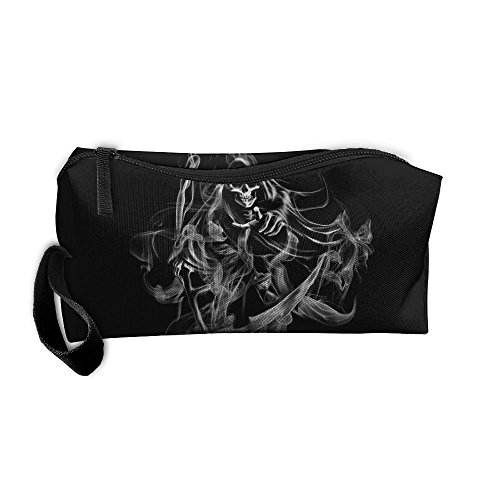 Kla Ju Portable Pencil Bag Purse Pouch Smoking Ghost Picture Stationery Storage Organizer Cosmetic -