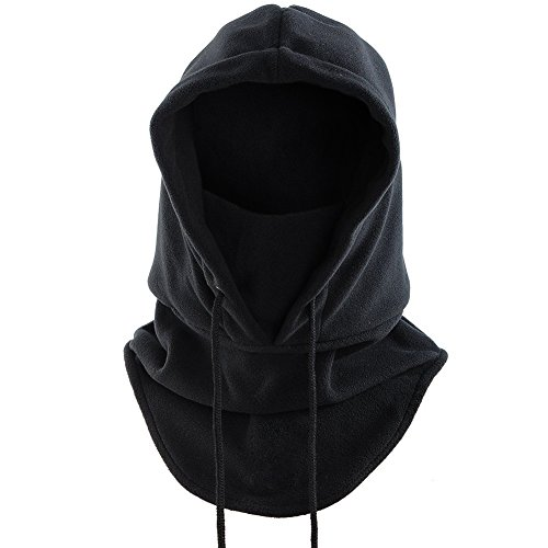 Tactical Hood - JollyGift®Fleece Outdoor Sports Mask Balaclava Hat Motorcycle Biker Face Masks (Black)