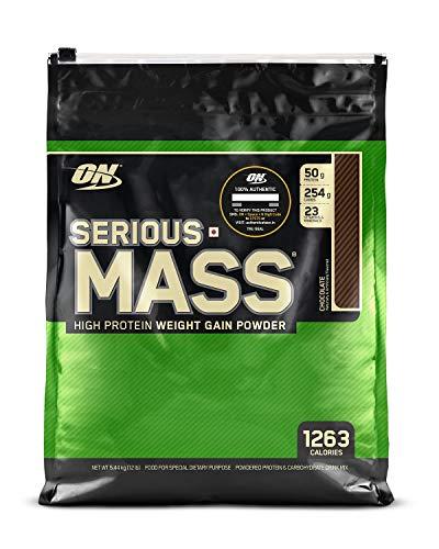 OPTIMUM NUTRITION Serious Mass Weight Gainer Powder  Chocolate, 12 lbs, 5.44 kg