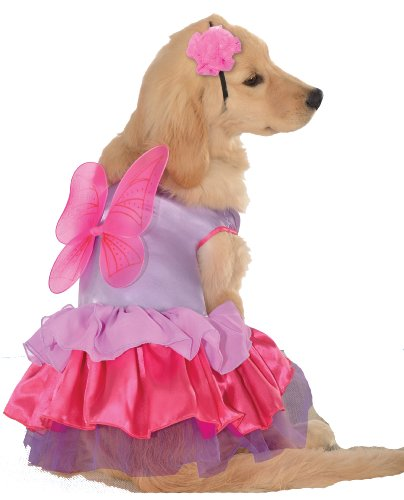 Extra Small Puppy Costumes (Rubie's Pet Costume, X-Small, Pink and Purple Fairy)