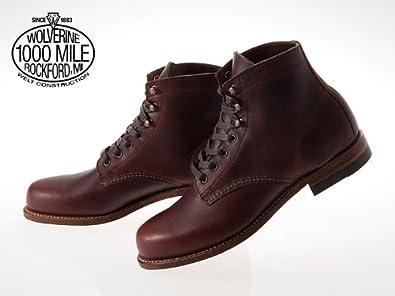 amazon ウルヴァリン wolverine 1000 mile boot plain toe