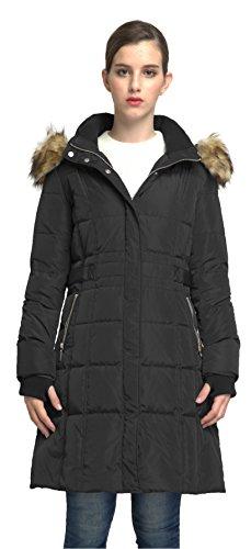 Winter Down Coat - Orolay Women's Puffer Down Coat Winter Jacket With Faux Fur Trim Hood YRF8020Q Black XL