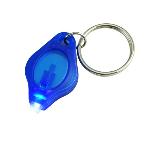 Mini Portable LED Flashlight with Keychain - Blue