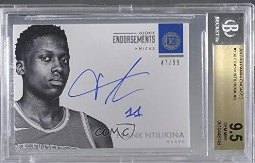 - Frank Ntilikina Graded BGS 9.5 GEM MINT #47/99 (Basketball Card) 2017-18 Panini Encased - [Base] #138