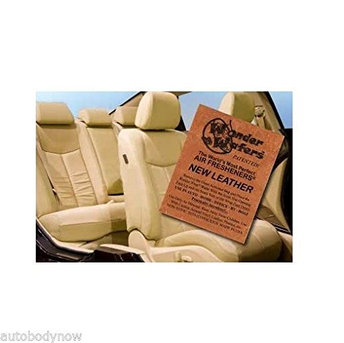 Wonder Wafers 25 CT Individually Wrapped New Leather Air Fresheners New Car Scent