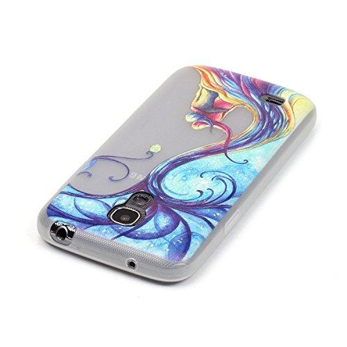 GOCDLJ Carcasa para Samsung Galaxy S5, Funda para Samsung Galaxy S5 TPU Silicona Transparent Noctilucent Glitter Bling Caja, Alta Calidad Ultra Delgado Fino y Resistente a Caidas con Protector de Pant Árbol de pareja