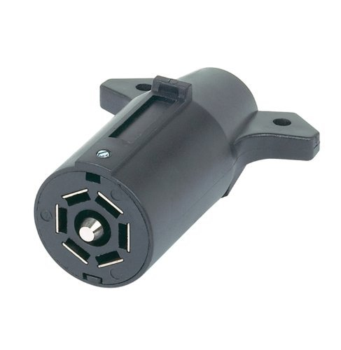 Connector 7 Pole Plastic (Hopkins Towing 48505 7-Pole RV Blade Plastic Trailer End Plug)