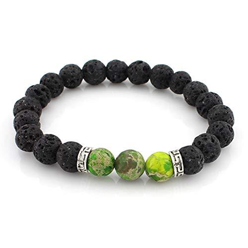 Joyhul Stone Beads Bracelet Men Strand Bracelets for Women Handmade Charm Cuff Wristband Adjustable Bileklik,8