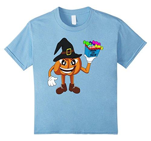 Kids Trick or Treat Pumpkin Halloween Kids Toddler T-Shirt 6 Baby Blue