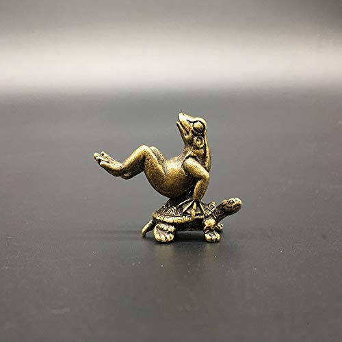 Owl Decoration Statues & Sculptures - Collectable Chinese Brass Carved Animal Frog and Turtle Tea Pet Tea Spoon Exquisite Small Statues - by GTIN - 1 Pcs - Welcome Frog Statue