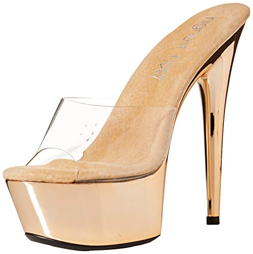 The Highest Heel Women's Amber 851 Peep Toe Mule with Solid Platform, as as Shown, 9 Medium US -