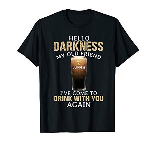 Hello Darkness My Old Friend Shamrock Beer Funny Gift Tshirt ()