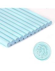 Blue Wax Seal Sticks, Glue Gun Sealing Wax Sticks for Wax Seal Stamp, Great for Wedding Invitations, Letter Envelopes (Blue Sea)