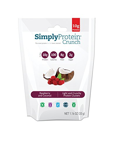 SimplyProtein Crunch, Raspberry Coconut, Gluten-Free - (1.16oz, Pack of 12)