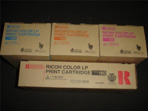 Ricoh Type 160 Aficio CL7200, CL7300; Savin CLP128, CLP135; Gestetner C7528n, C7535hdn 888442, 888443, 888444, 888445 CYMK Toner Set