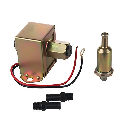 MIDIYA EP-014 High Pressure (5-9PSI) 12VUniversal Standard Self Priming Heavy Duty Gas Diesel In-Line In-Tank Electric Fuel Pump With Installation Kit Metal Solid Petro Gasoline or Diesel Engine ...