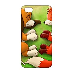 Lovely fox and wolf 3D For SamSung Galaxy S5 Mini Phone Case Cover