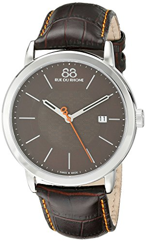 88-Rue-du-Rhone-Mens-87WA120035-Analog-Display-Swiss-Quartz-Black-Watch
