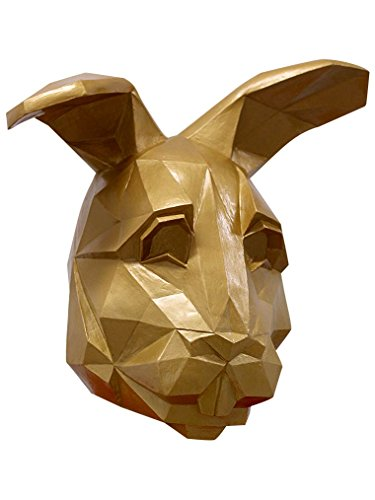 Ghoulish Productions Adult Golden Low Poly Bunny Halloween Mask