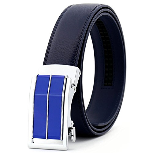 Eric Hug?Fashion New Fashion Mens Belt Automatic Buckle Personality Black Coffee Belt 110-130cm Casual Strap Genuine Leather Waistband Green 120cm -