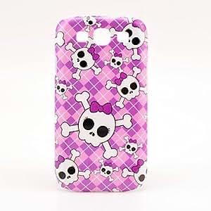 CL - Cubierta del caso del patrón rosado del cráneo de la muchacha por Galaxy 3 I9300