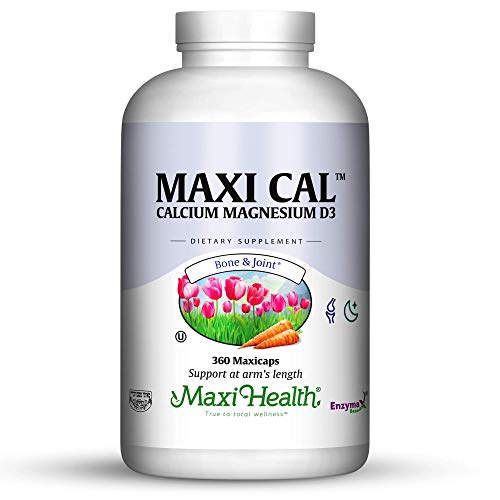 - Maxi Health Calcium - with Vitamin D3 and Magnesium - Supports Healthy Bones - 360 Capsules - Kosher