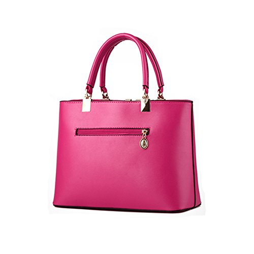 bag word women V PU Pahajim Rose handbags top purse satchel leather shoulder handle tote 7qFaHT