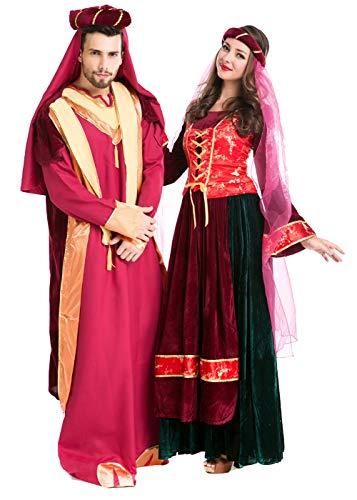 Adult Couples Halloween Cosplay National Costume,Traditional Egyptian Costume Halloween Gown (Men)