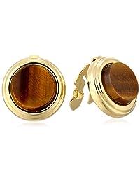1928 Jewelry Unisex Genuine Semi-Precious Round Button Covers