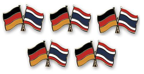 Yantec Flaggenpin 2er Pack Thailand Pin Anstecknadel Fahnenpin