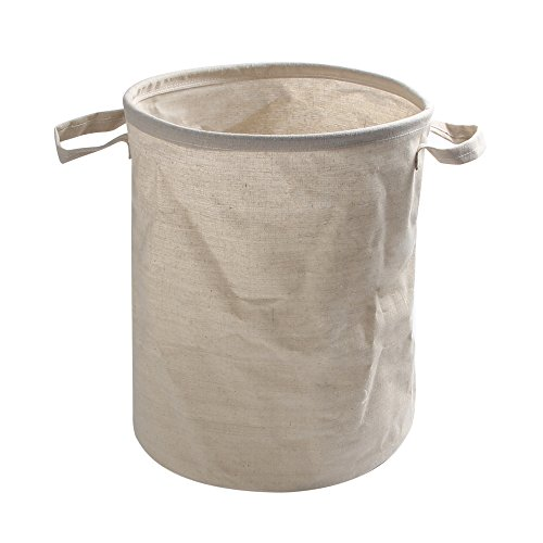 - Cotton Linen Collapsible Bucket Handles Multi-Purpose Storage Barrels Laundry Basket Laundry Collapsible & Convenient Bedroom Nursery Dorm Closet (l)