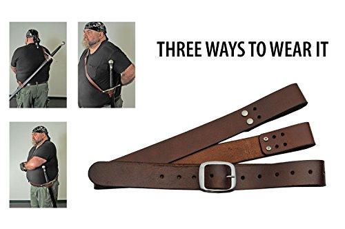 SZCO Supplies Brown Shoulder Belt for Medieval/Samurai Sword Shoulder Belt