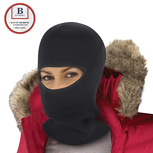 Merino Wool Full Face Mask   Unisex Balaclava   Warm & Anti-Microbial Facemask