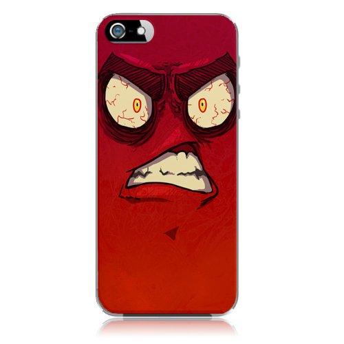 Xtra-Funky Serie iPhone 5C de dibujos animados loco ojos saltones cubierta de la caja de plástico duro - Señorita Enojado