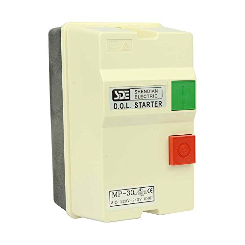 220 3 Phase (Big Horn 18839 3-Phase, 220-240-Volt, 10-HP, 22-34-Amp Magnetic Switch)