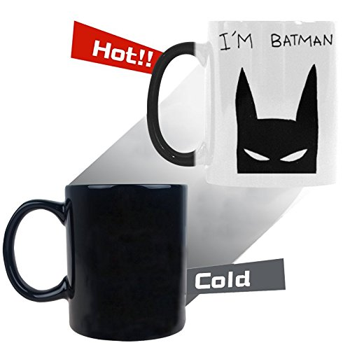 Superhero Batman Mug, I'm Batman 11 OZ Morphing Ceramic Coffee Mugs - Best funny - First Number Tracking Class Usps Package