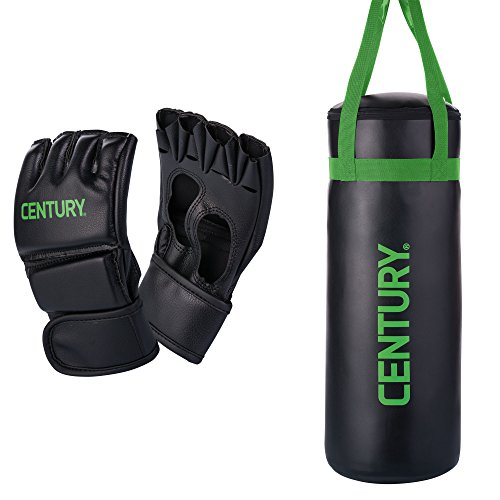 Youth Boxing MMA Training Bag and Kid Glove Combo Set (Vinyl Boxing Gloves)