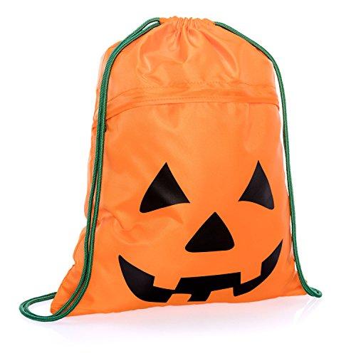 Thirty-One Halloween Bag - Cinch Sac in Playful Pumpkin - 8952 - no -