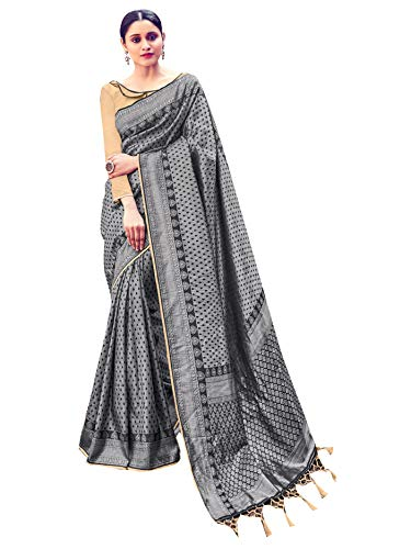 Sarees for Women Banarasi Art Silk Woven Saree || Ethnic Indian Traditional Wedding Gift Sari with Unstitched Blouse