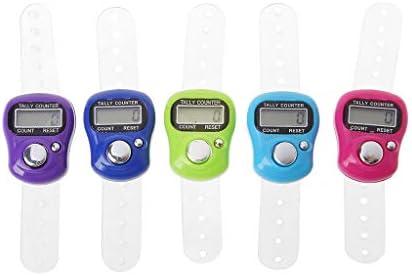 ruiruiNIE Mini Stich Marker Und Reihe Finger Zähler LCD Elektronische Digitale Zähler Zum Nähen Stricken Weben Werkzeug Finger Zähler Zufällige Farbe
