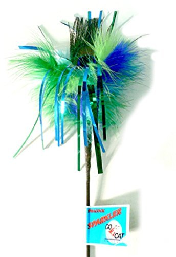 Peacock Sparkler Cat Toy 36