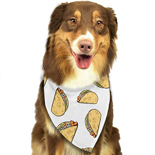 MODREACH Sweet Potato Tacos Dog Bandanas - Washable and Reversible Triangle Cotton Dog Bibs Scarf Assortment Suitable for Puppy Small and Medium Pet ()