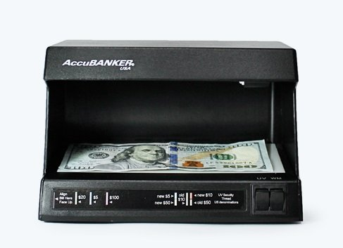AccuBanker D63 Compact Counterfeit  Detector with UV Ultraviolet and Watermark Detection