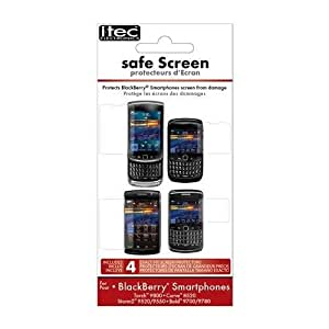 I-Tec ITET3128 BlackBerry Screen Armor - 1 Pack - Screen Protector - Retail Packaging - Clear