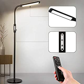 LED Floor Lamp Remote Control & Touch, Floor Lamps for Living Room Bedrooms 5 Color Temperatures and Brightness Dimmable Reading Light, Albrillo Standing Lights for Bedroom Office