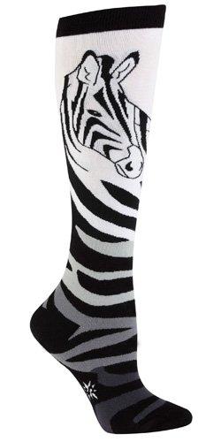 Sock It To Me Zebra Women's Knee High Socks,size 5-10